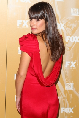 Lea Michele arrives to the Fox Broadcasting, Twentieth Century Fox and FX 2011 Emmy Nomination Celebration at Fig &amp; Olive Melrose Place in West Hollywood, Calif. on September 18, 2011