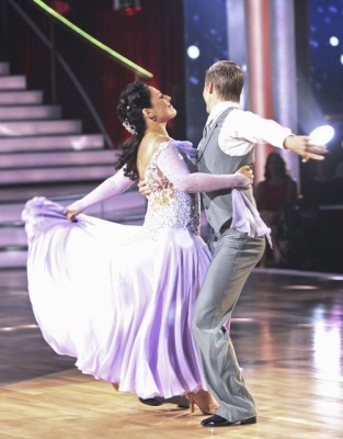 "Derek Hough and Ricki Lake perform during Night 1, Week 1 of ""Dancing,"" September 19, 2011"