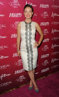 Honoree Olivia Wilde strikes a pose on the red carpet at the 3rd Annual Variety&#8217;s Power of Women Event presented by Lifetime at the Beverly Wilshire Four Seasons Hotel in Beverly Hills, Calif., on September 23, 2011