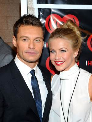 Cute couple alert! Ryan Seacrest and Julianne Hough pose in the VIP Lounge at the iHeartRadio Music Festival held at the MGM Grand Garden Arena in Las Vegas on September 23, 2011