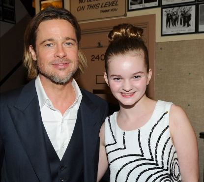 Brad Pitt and Kerris Dorsey arrive at the premiere of &#8216;Moneyball&#8217; at the Paramount Theatre of the Arts in Oakland, Calif. on September 19, 2011