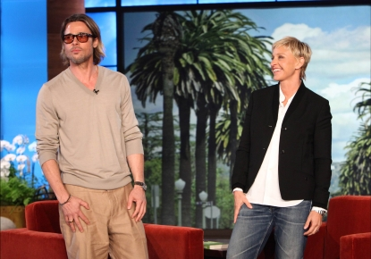 Brad Pitt visits &#8216;The Ellen DeGeneres Show&#8217; for an interview on Sept. 21, 2011