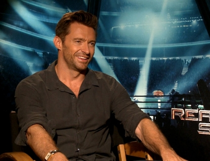 Hugh Jackman chats with Access Hollywood at the &#8216;Real Steel&#8217; junket in Los Angeles on September 24, 2011