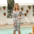 Heidi Klum unveils her new fragrance, Shine, at the Mondrian Los Angeles on September 28, 201