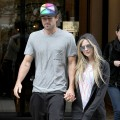 Avril Lavigne and Brody Jenner are sighted leaving their hotel in Paris on September 17, 2011