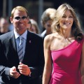 Elizabeth Hurley and Australian cricketer Shane Warne seen in Johannesburg, South Africa on July 22, 2011