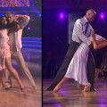"Ricki Lake, Derek Hough, J.R. Martinez and Karina Smirnoff on ""Dancing with the Stars,"" October 3, 2011"