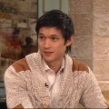 Harry Shum Jr. stops by Access Hollywood Live on October 7, 2011  