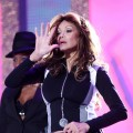 La Toya Jackson rehearses for the 'Michael Forever' concert to remember the late Michael Jackson at The Millenium Stadium in Cardiff, UK, on October 8, 2011