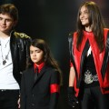 Prince Jackson, Blanket Jackson and Paris Jackson appear onstage at the &#8216;Michael Forever&#8217; concert to remember the late Michael Jackson at The Millenium Stadium in Cardiff, Wales, on October 8, 2011