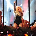 Christina Aguilera performs during the 'Michael Forever' concert in memory of the late Michael Jackson at The Millenium Stadium in Cardiff, Wales, on October 8, 2011