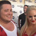 Chaz Bono and partner Lacey Schwimmer chat with Access Hollywood after 'Dancing with the Stars' on October 11, 2011