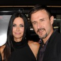 "Courteney Cox and David Arquette are all smiles at the premiere of ""Scream 4"" held at Grauman's Chinese Theatre in Hollywood, Calif. on April 11, 2011"