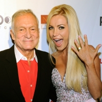 Hugh Hefner and Crystal Harris celebrate Hefner's 85th birthday at the Palms Casino Resort in Las Vegas on April 9, 2011