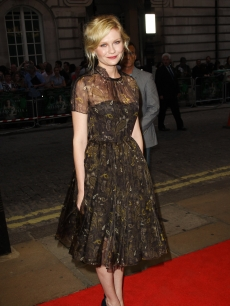 Kirsten Dunst attends the UK premiere of 'Melancholia' at The Curzon Mayfair, London, on September 28, 2011