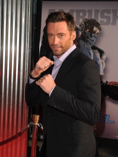 Hugh Jackman steps out at the 'Real Steel' Los Angeles premiere at The Gibson Amphitheatre in Universal City, Calif. on October 2, 2011