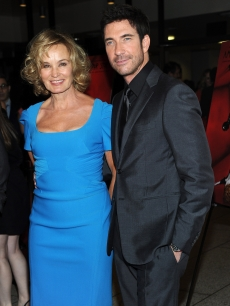 Jessica Lange and Dylan McDermott arrive at the premiere of FX&#8217;s &#8216;American Horror Story&#8217; at the Arclight Cineramadome in Hollywood, Calif. on October 3, 2011 