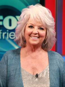 Paula Deen is all smiles at the 'FOX & Friends' studios in New York City on October 12, 2011