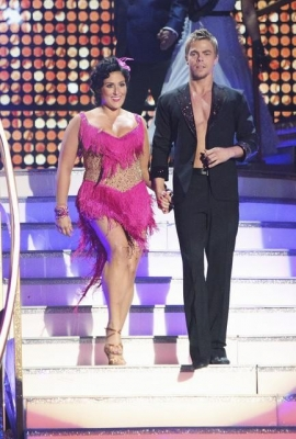 "Ricki Lake and Derek Hough take the stage on ""Dancing with the Stars,"" Season 13, Week 2, September 26, 2011"