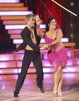 "Ricki Lake and Derek Hough jive to a score of 23/30 and the top leaderboard spot on ""Dancing with the Stars,"" Season 13, Week 2, September 26, 2011"