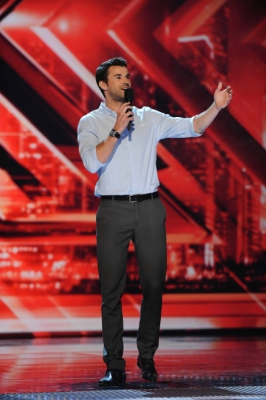 "Steve Jones takes the stage on ""The X Factor,"" September 29, 2011"