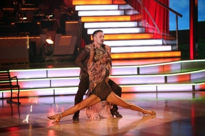 "David Arquette and Kym Johnson rumba to a score of 24/30 in Week 3 of ""Dancing with the Stars,"" Oct. 3, 2011"