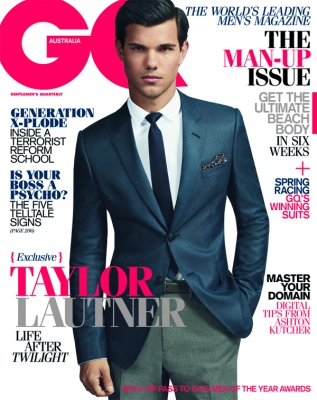 Taylor Lautner on the cover of GQ Australia October/November 2011 issue