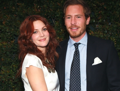 Drew Barrymore and art consultant Will Kopelman attend Chanel's benefit dinner for the Natural Resources Defense Council's Ocean Initiative at the home of Ron & Kelly Meyer in Malibu, Calif. on June 4, 2011