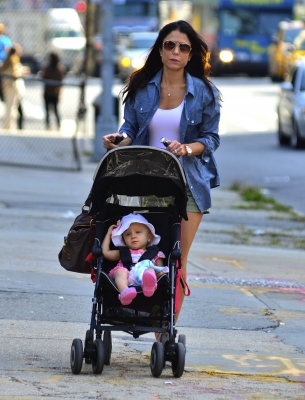 Bethenny Frankel and baby Bryn step out in New York City, Oct. 10, 2011