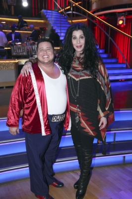 "Chaz Bono and Cher at ""Dancing with the Stars,"" Week 4, Oct. 10, 2011"