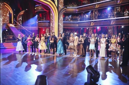 "The cast take the stage on ""Dancing with the Stars,"" Season 13, Week 2, September 26, 2011"