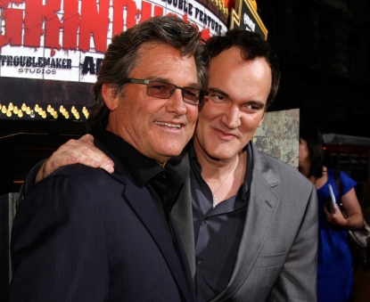 Kurt Russell and Quentin Tarantino arrive to the premiere of &#8216;Grindhouse&#8217; at the Orpheum Theatre in Los Angeles on March 26, 2007