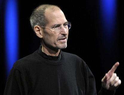 Steve Jobs, chief executive officer of Apple Inc., unveils the iCloud storage system at the Apple Worldwide Developers Conference 2011 in San Francisco, California, U.S., on Monday, June 6, 2011
