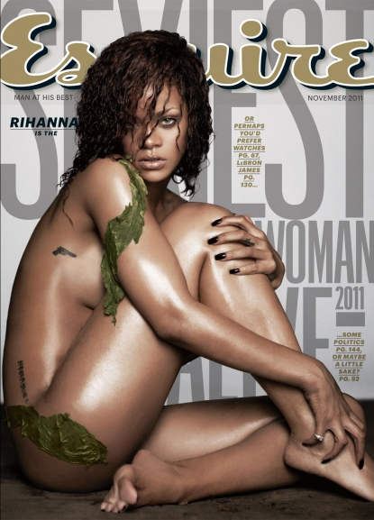 Rihanna appears on the November 2011 cover of Esquire