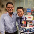 Celebrity party planner Mark Addison unveils his special birthday cake he designed for Billy Bush on Access Hollywood Live on October 13, 2011