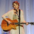 Taylor Swift performs the Alan Jackson song 'Where Were You' at the 41st Nashville Songwriters Hall of Fame induction ceremony at the Renaissance Hotel in Nashville on October 16, 2011