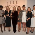 Honorees Naomi Watts, Viola Davis, Michelle Pfeiffer, Barbra Streisand, Jennifer Aniston, Editor-in-chief of ELLE Robbie Myers, honorees Stacey Snider, Freida Pinto, and Evan Rachel Wood attend ELLE's 18th Annual Women in Hollywood Tribute held at the Four Seasons Hotel Los Angeles at Beverly Hills in Beverly Hills, Calif. on October 17, 2011