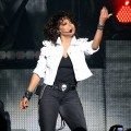 Janet Jackson performs on stage at the Burswood Theatre in Perth, Australia on October 18, 2011