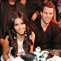 Kim Kardashian and Kris Humphries celebrate Kim's birthday at Marquee Nightclub at the Cosmopolitan of Las Vegas in Las Vegas on October 22, 2011