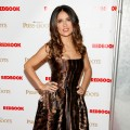 Salma Hayek attends the 'Puss In Boots' New York screening at The Hearst Tower on October 24, 2011