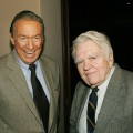 Mike Wallace and Andy Rooney attend the screening of 'Enron: The Smartest Guys in the Room' at the MGM screening room in New York City on April 13, 2005