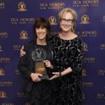 Nora Ephron poses with Meryl Streep at the 2011 Directors Guild Of America Honors at the Directors Guild of America Theater in New York City on October 13, 2011