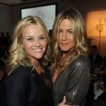 Reese Witherspoon and Jennifer Aniston attend ELLE&#8217;s 18th Annual Women in Hollywood Tribute held at the Four Seasons Hotel in Los Angeles on October 17, 2011 