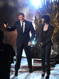 12932977Sean Bean and Lena Headey on stage at the 2011 Scream Awards on the Universal Studios lot, Hollywood, Oct. 15, 2011