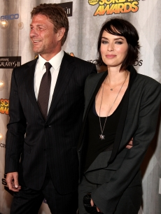 Sean Bean and Lena Headey on the red carpet at the 2011 Scream Awards on the Universal Studios lot, Hollywood, Oct. 15, 2011