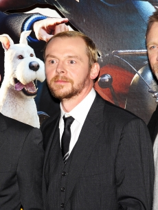 Jamie Bell, Simon Pegg and Daniel Craig seen looking dapper at the UK premiere of 'The Adventures Of Tintin: The Secret Of The Unicorn' at The 55th BFI London Film Festival in London on October 23, 2011