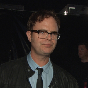 Backstage At 2011 Scream Awards: Rainn Wilson Talks Presenting The Visionary Award To Paul Rubens