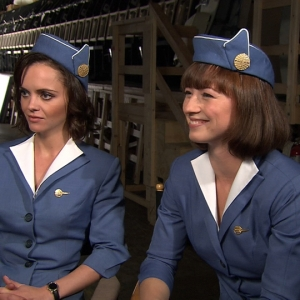 Christina Ricci & Karine Vanasse Talk Sexy 'Pan Am' Wardrobe & Future Episodes