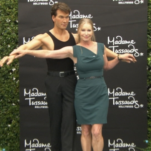 Patrick Swayze&#8217;s Widow Lisa Niemi Unveils His Madame Tussauds Wax Figure
