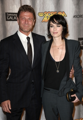Reunion! Sean Bean and Lena Headey meet up on the red carpet at the 2011 Scream Awards on the Universal Studios lot, Hollywood, Oct. 15, 2011